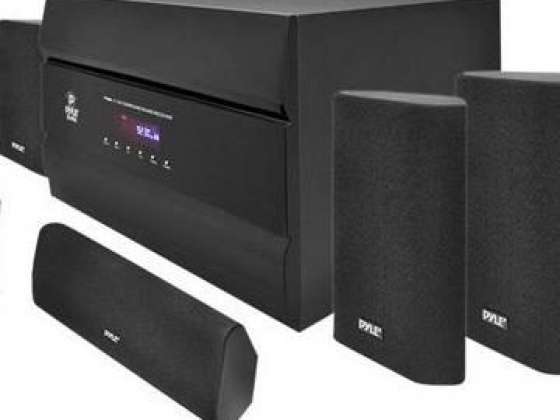 Pyle PT628A 400W 5.1-Channel Home Theater System with AM/FM Tuner, CD, DVD and MP3 Player Compatibil