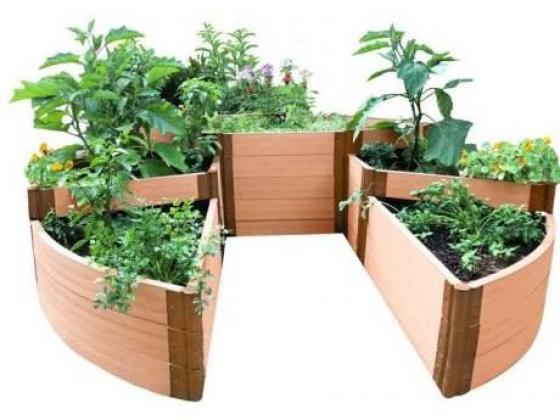 Classic Sienna Circle Terraced Garden