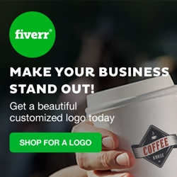 Fiverr logo coffee